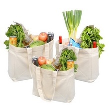 Eco-friendly Reusable Cotton Muslin Grocery Tote Shopping Bag for Vegetables and Fruits