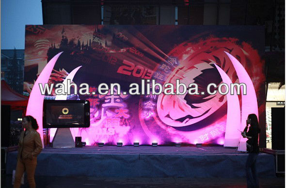 2013 hot new brand illuminated stage decorations/pure wedding decorations inflatable columns
