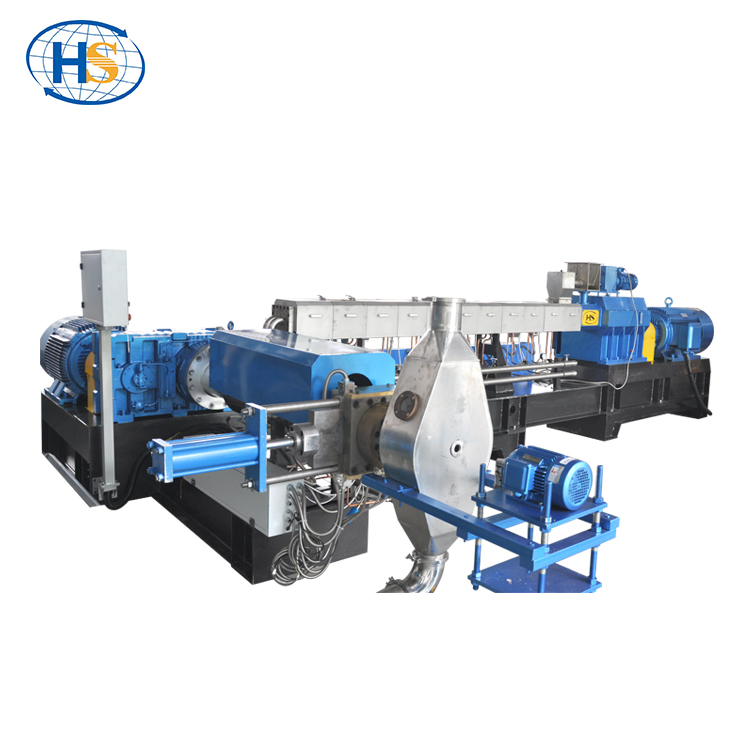 Tweetraps compounding plastic pellet extrusie machine