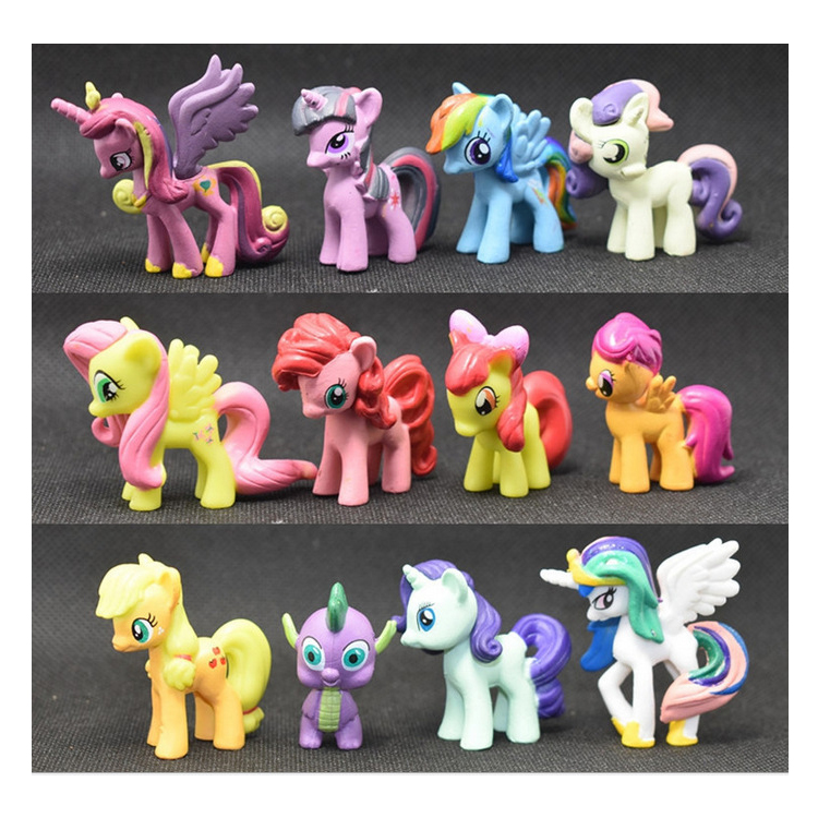 Ebay best selling 12 pz piccola dimensione little horse personalizzato action figure