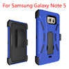 Robotic Hard Armor Case for Note 5 Silicone with Kickstand Phone Cover 2 in 1 Shockproof Case For Samsung Galaxy note 5
