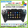 ZESTECH car dvd navigation for Toyota Camry 2012 car dvd navigation system with gps 3G wifi