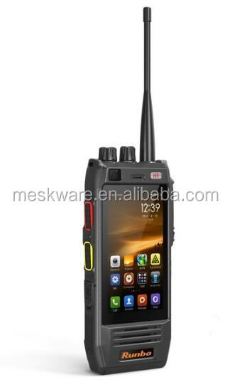 Original smartphone 4G LTE Long distance Walkie Talkie IP67 Waterproof Rugged UHF VHF phone Runbo H1