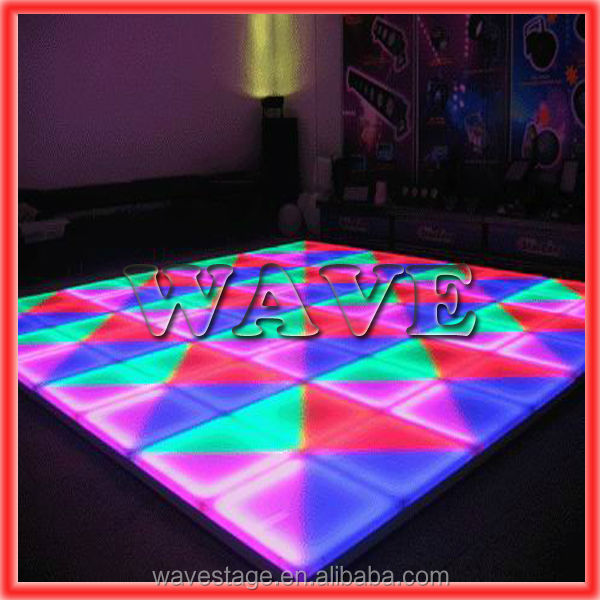 WLK-1-1 640 pcs RGB leds manufacture dance floor dmx stage light portable led dance floors for sale