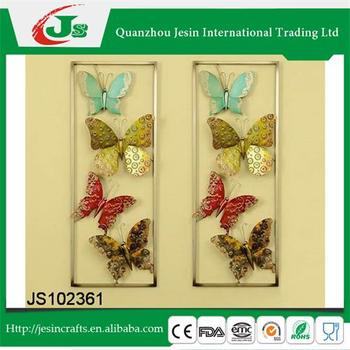 Set Of 2 Metal Butterfly Wall Hanging,For Home Decoration - Buy Wall ...