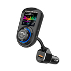 GXYKIT 1.8 inch Color LCD Screen QC3.0 Car Charger Wireless Handsfree FM Transmitter Bluetooth 5.0 Car Radio MP3 Player G45