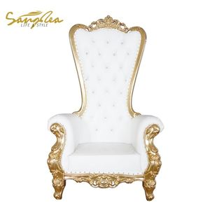 Factory Price Queen Royal Throne Chairs King For Planning Events