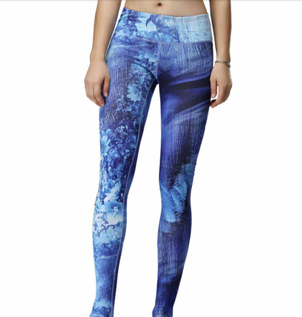 Volle sublimation sexy yoga frauen leggings