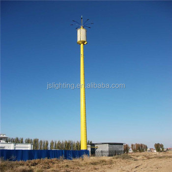 Galvanized disguised antenna landscape tower with light / telecommunication steel light tower China Manufacturer