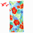 Hot Sale Luxury closeout red white and blue hawaii flower beach towels made in china
