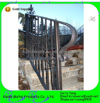 Manufacturer Price Ornamental Forged Iron Garden Stair Railings, Metal  Garden Stair Railings