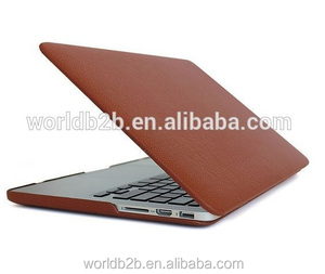 hot new products for 2015 PU Leather skin hard case for MacBook Air 13 inch