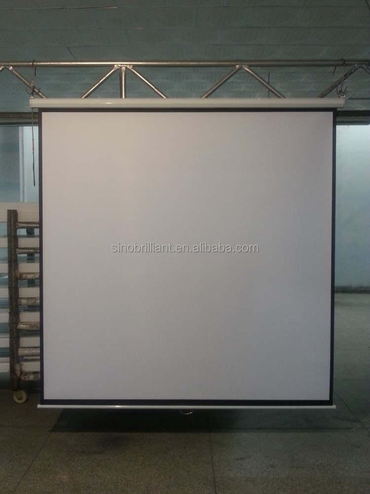 "70""x70"" manual wall mounted projection screen, projector screen with slow retraction"