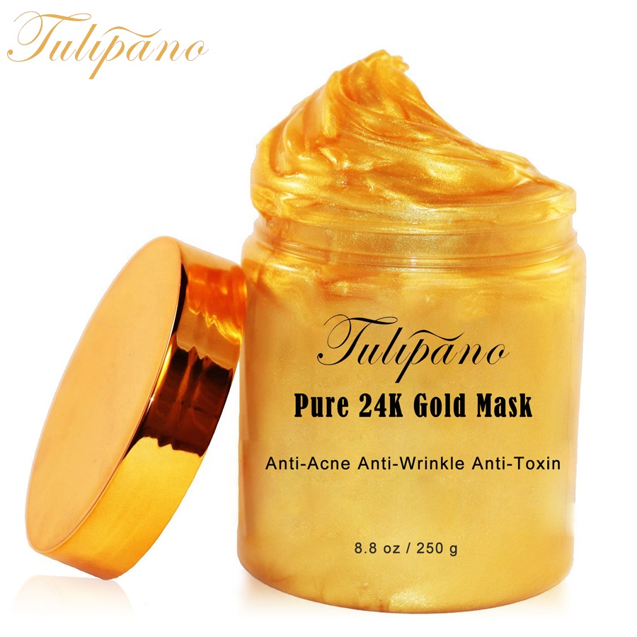 Blanchissant hydratant anti-âge collagène cristal masque facial or 24 k