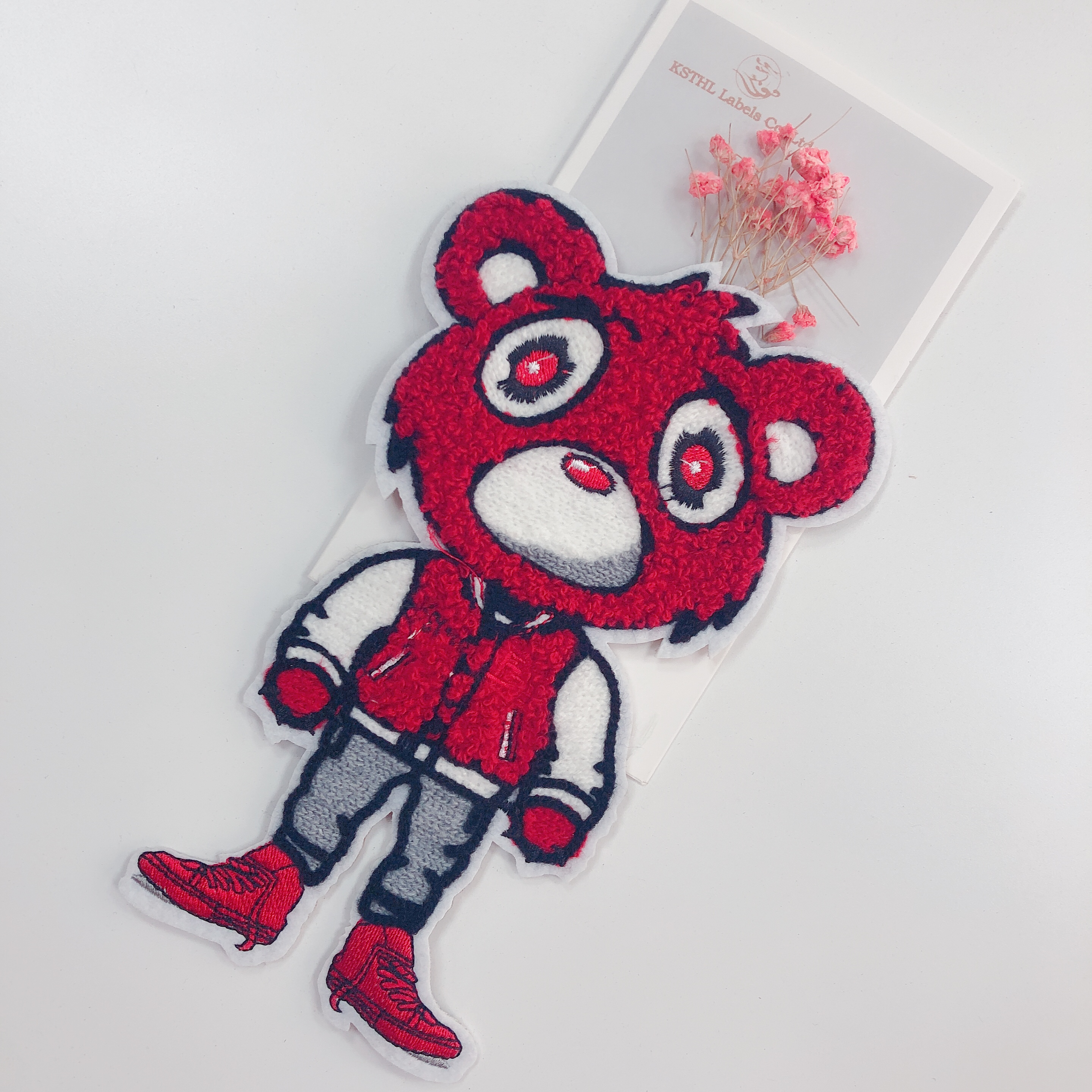 Wholesale custom sew on towel embroidery patch garment woven patch for boys for clothingIMG_1729