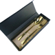 Hot sale stainless steel gold plated tableware reusable flatware gift box set portable custom travel plated cutlery set