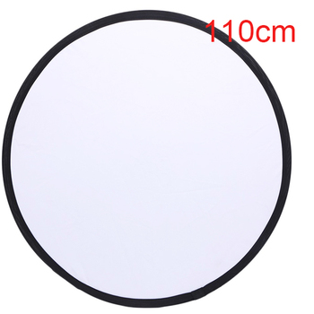 Reflector 110cm 2 in 1 Light Round Flash Photo reflector for Silver White