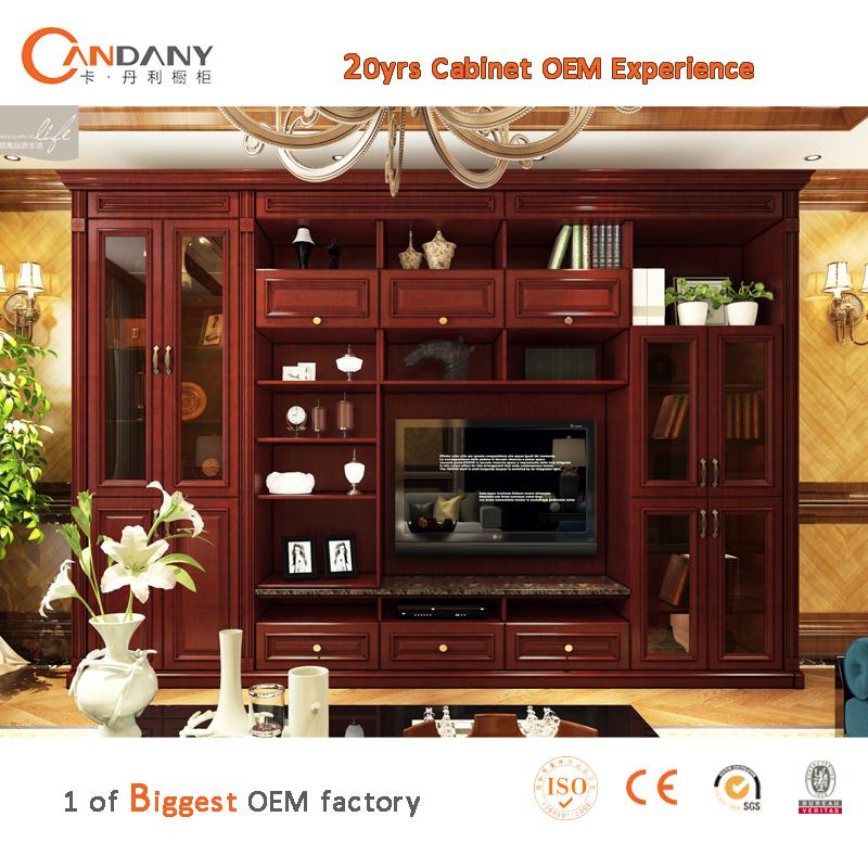 nouveau mod le tv cabinet avec vitrine salon meuble t l moderne meubles en bois id de produit. Black Bedroom Furniture Sets. Home Design Ideas