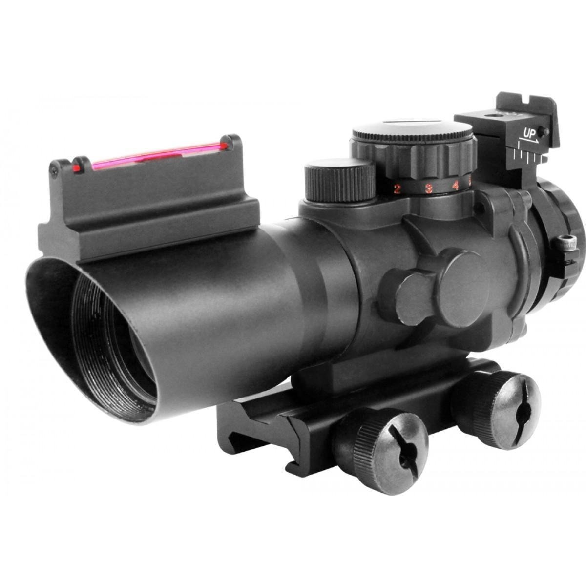 AIM Sports JTAPO432G Tri-Illuminated 4X32MM Scope w/Fiber Optic Sight