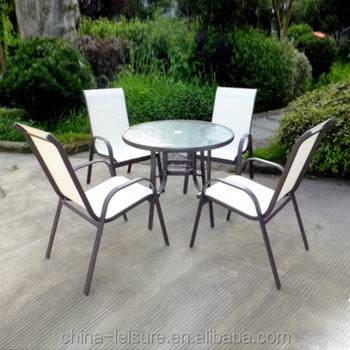 Metal Steel Cheap Patio Table Chairs Set