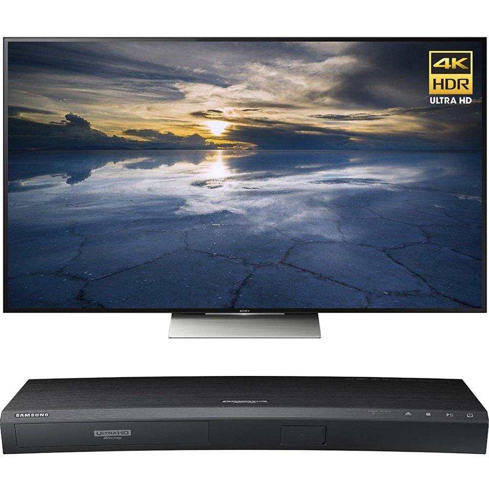 Sony 55-Inch Class 4K HDR Ultra HD TV (XBR-55X930D) with Samsung 3D Wi-Fi 4K Ultra HD Blu-ray Disc Player