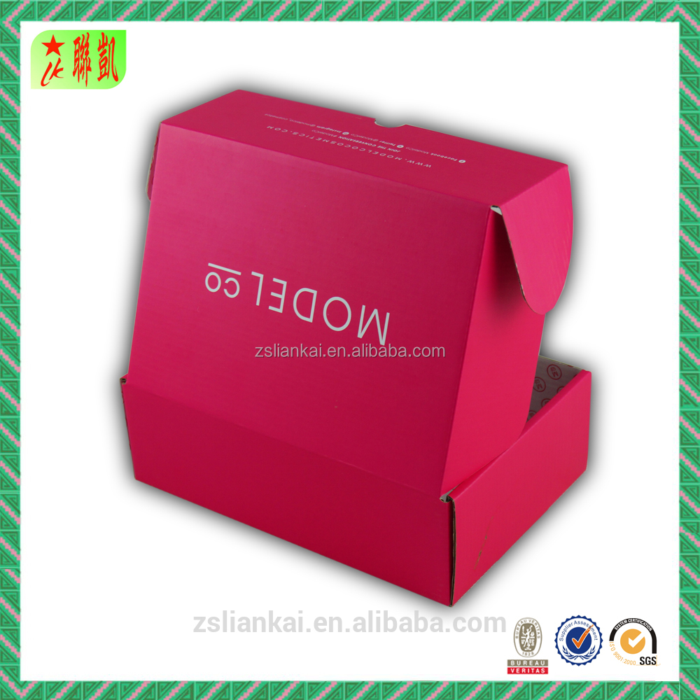 Pink Colored Packaging Box for Cosmetic Mailing/Shipping