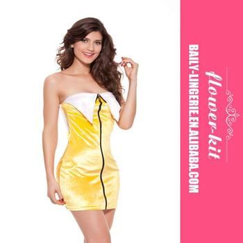 Hot Beautiful Y Banana Fancy Dress Cosplay Fruit Costume