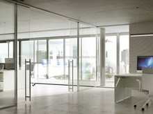 Wholesale office tempered glass partition wall system / Excellent quality interior glass partitions