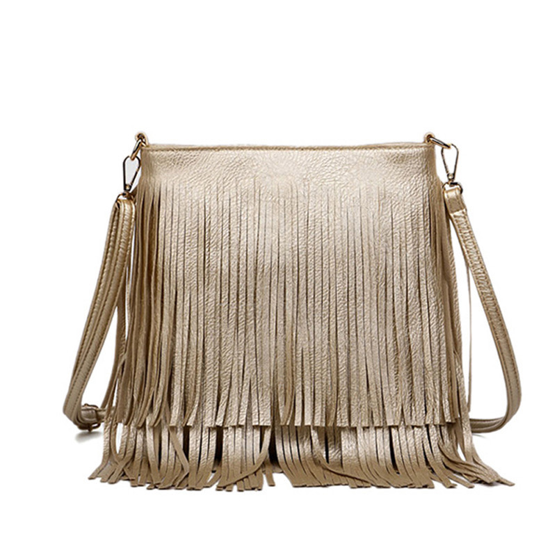 Get Quotations · Women Messenger Bag Quality Leather 2015 Fashion Tassel  Bags Women Crossbody Shoulder Bag Bolsa Feminina Casual d899b90cb9