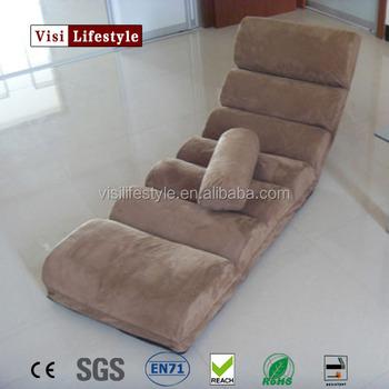 VISI Soft Fabric Adjustable Lounge Folding Chair Beanbag Tatami Single Small Sofa Bed Computer