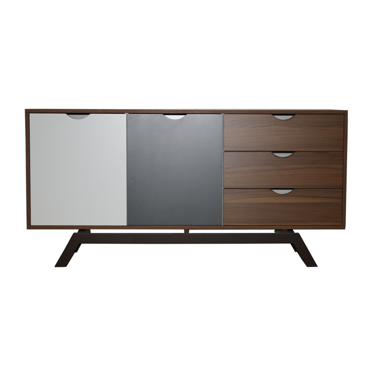 Modern wooden console chinese sideboard cabinet with three drawers design