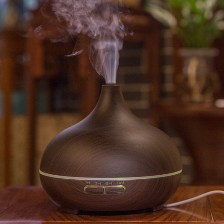 Wood Grain Sharp Mouth Electric Aroma Essential Oil Diffuser Humidifier