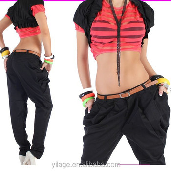 las China hip para herm pantalones sexy pantalones mayor mujeres señora por hop manguera 2015 chino aqOCOw