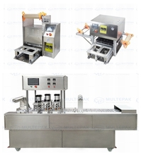 different cup bottle tray sealing machine customized CE approved from 1 click