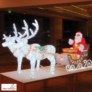 Christmas Santa Sleigh Reindeer Decoration  from sc02.alicdn.com