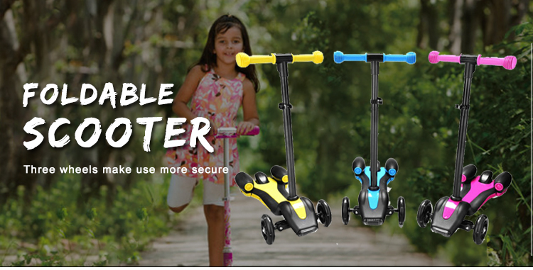 New style rocket 3 wheel kids scooter with colorful spray mist