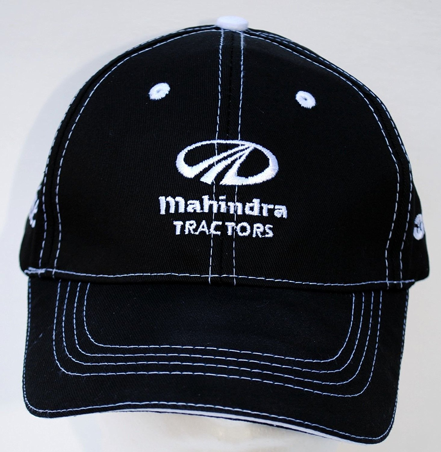 Mahindra New Oem Ball Cap / Hat Black / White Stitched - Tractor Farm Yard