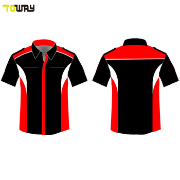 9faff33a button down custom blank racing shirts