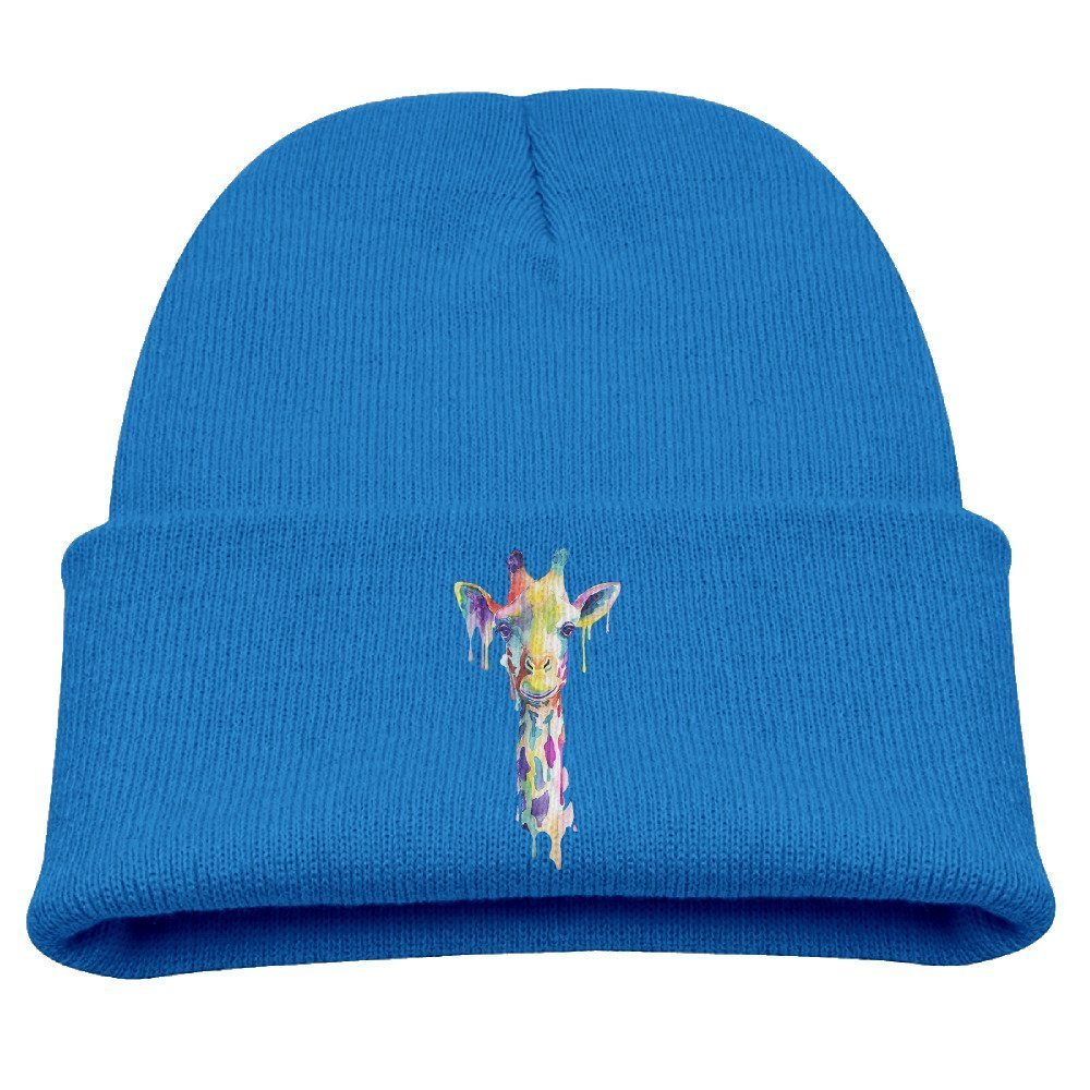 7a06bdc2dbccd Get Quotations · Watercolor Giraffe Unisex Kids Warm Winter Hat Knit Beanie  Skull Cap Cuff Beanie Hat Winter Hats