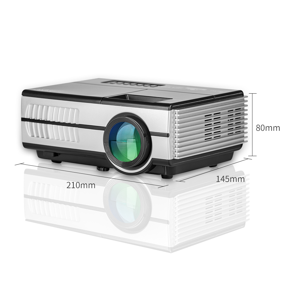 Mini portable projector for home cinema use support 1080P led tv video pico beamer фото