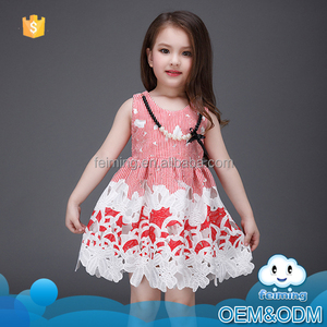 Wholesale children new model frocks designs fancy pictures lace wedding patterns summer brand fashion girls dresses