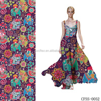 High Quality Digital Printed Cotton Lycra Fabric For Cotton Sarees