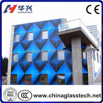 CE&ISO9001 Customized size architectural Commercial building dichroic glass