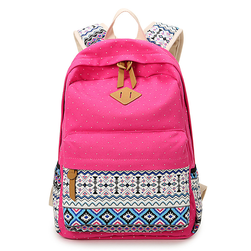 Cute Girl Polka Dot Teenagers Girls Lightweight Laptop School Canvas  Backpack - Buy Canvas Backpack d18891862d469