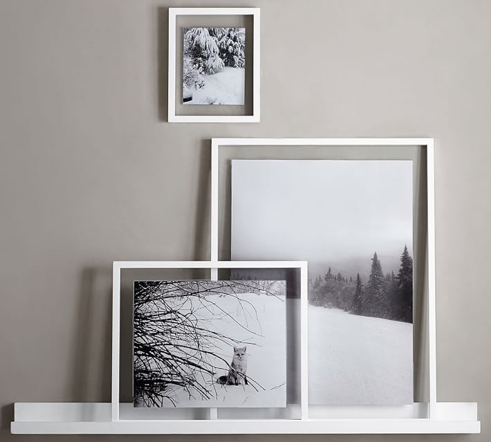 black floating wood gallery photo frame with 2 pcs acrylic, View ...