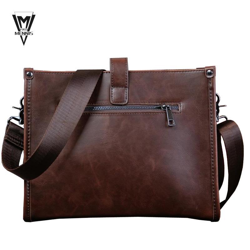Get Quotations · Horizontal Large Size Leather Man Bag 28451e5bc8fa1