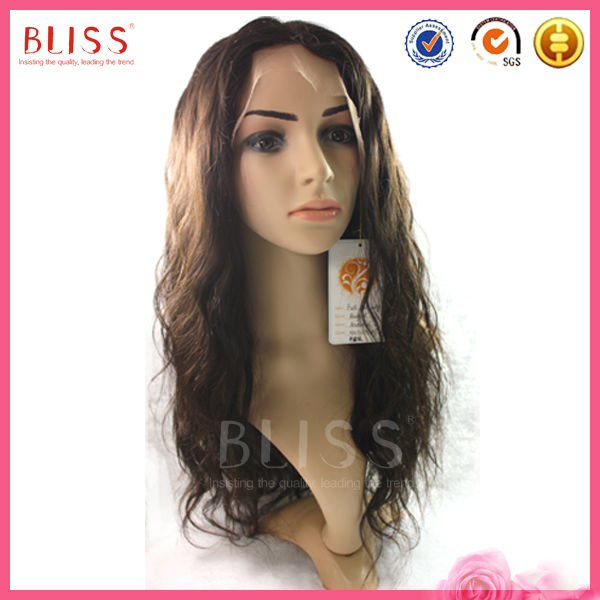 high quality Swiss Net cheap brazilian 100% remy human hair full lace wig