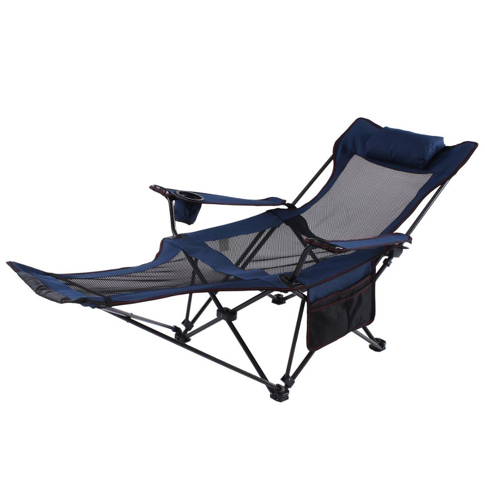 Folding camping chairs with footrest - Footrest Camp Chair Outdoor Fold Camp Chair With Footrest