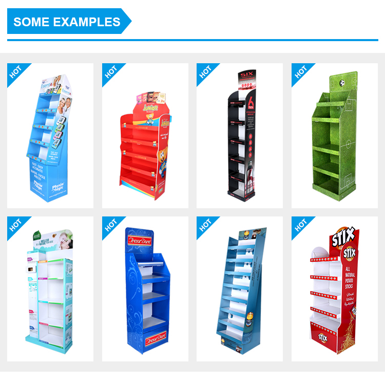 8 Years Factory Easy-assembling Mini Book Display Magazine Cardboard Stand for promotion