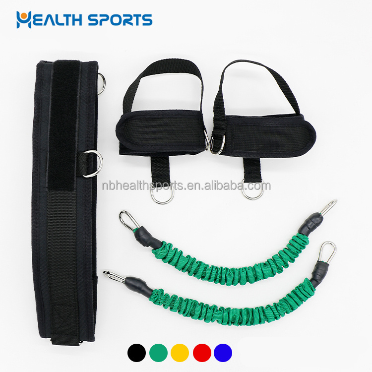 High resistance vertical jump leg elastic exercise bands